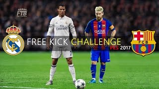 Free Kick Challenge #4 | IMPOSSIBLE ANGLE | MESSI vs. RONALDO | PES 2017