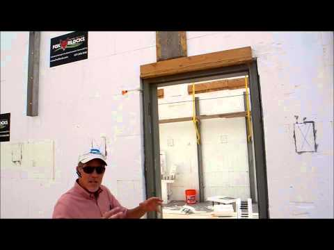 Fox Blocks Steel Door Frames integrated within insulated concrete form walls
