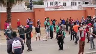 Tensión en caravana de migrantes