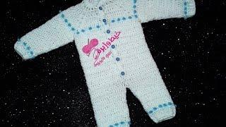 كروشية سالوبيت بيبى حديث الولادة  عُمر يوم - 3شهور |خيط وإبرة |