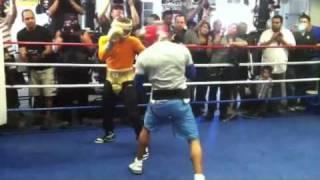 Canelo Alvarez sparring Carson Jones