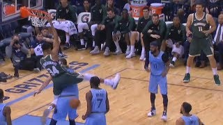 Giannis Disrespects Marc Gasol With Rude Dunk Then Gasol Tries To Get Revenge! Bucks vs Grizzlies