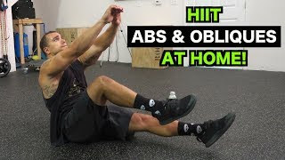 Intense Tabata At Home Abs & Obliques Workout (HIIT) by Anabolic Aliens