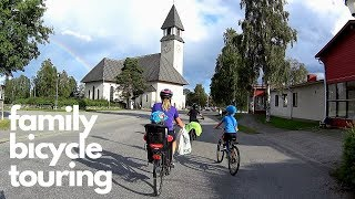 Kids 7 & 10 Years Old Cycle 47 Km - Family Bicycle Touring Day 1