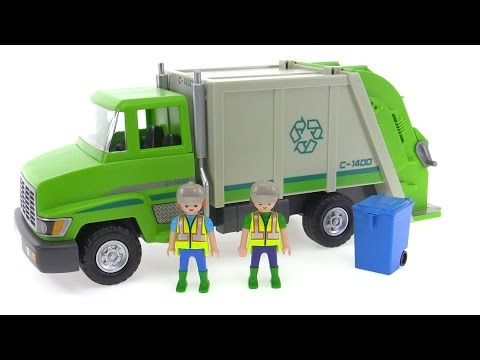 Playmobil Green Recycling Truck 5938 review!