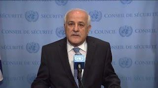 The situation in the Middle East, including the Palestinian question  - SC Media Stakeout