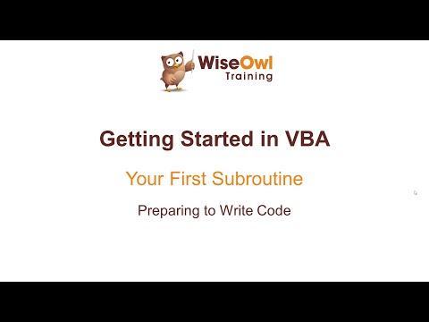 Excel VBA Online Course - 1.1.1 Preparing to Write Code - YouTube
