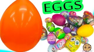 Super Mega Surprise Toy , Candy , Sticker Egg Haul Unboxing from Shopkins , Frozen, MLP + More