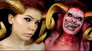 Devil Makeup Costume Transformation - Just SATAN Things