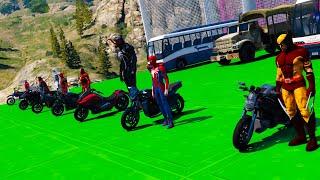 Moto Сhallenge SpiderMan and Hulk Long Ramps GTAVMods ! Халк с Человеком пауком и другие супер Герои