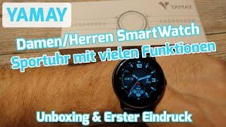 Yamay Smartwatch Fitnesstracker Sportuhr SW022 [Unboxing & Erster Eindruck]