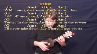 The Thanksgiving Song (Adam Sandler) Ukulele Cover Lesson With Chords/Lyrics