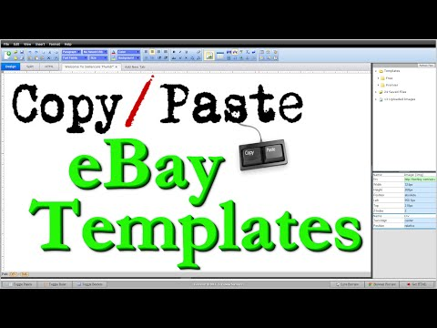 free ebay template design help and walkthrough videos