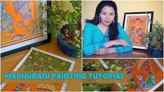 Madhubani/Mithila Painting Tutorial | Indian Folk Painting | Painting Tutorial - Download this Video in MP3, M4A, WEBM, MP4, 3GP