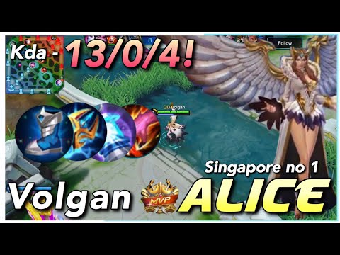 No Deaths In Late Game | Top Global Alice Gameplay | Giveaway | Mobile Legends