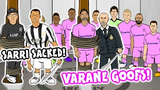 😲Varane Mistakes! Sarri Sacked!😲 (Champions League Parody Man City vs Real Madrid Juventus Lyon)