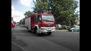 preview picture of video 'Brand am 22.06.2012 in Torgau Polizei, RTW und Feuerwehr Alarmfahrt'