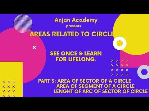 Area of Sector and Area of Segment of Circle
