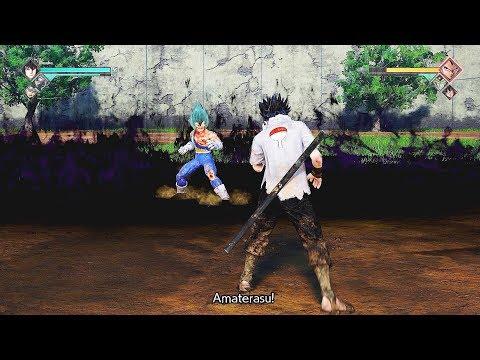 JUMP FORCE - Rinnegan Sasuke vs SSB Vegeta Gameplay