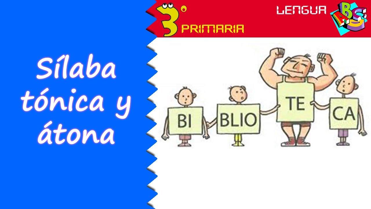 Lengua Castellana. 3º Primaria. Tema 2. Sílaba tónica y sílaba átona