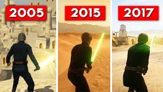 HEROES AND VILLAINS COMPARISON - Star Wars Battlefront (2005) vs (2015) vs (2017) EVOLUTION