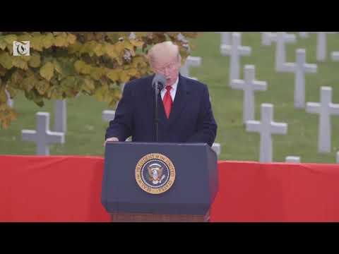 President Trump Speaks at Suresnes American Cemetery on Armistice Day