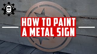 How To Paint A Metal Sign - Maker Table Metal