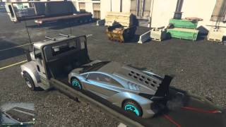 Grand Theft Auto V | How to put a car on a flatbed