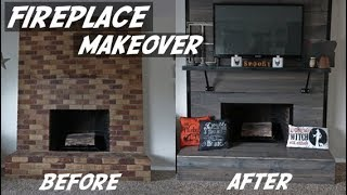 DIY Fireplace Makeover | Fireplace Remodel | DIY Fireplace | DIY Faux Fireplace | DIY Home Remodel