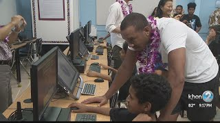 LA Clippers Give Back With Keiki Clinic, Computer Lab