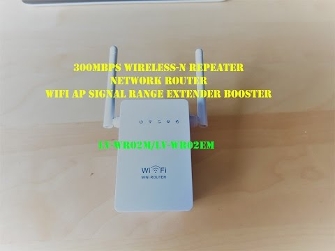 300Mbps Wireless-N Repeater Network Router WiFi AP Signal Range Extender Booster –  unbox rewies