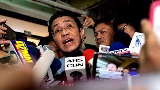Rappler news' Maria Ressa calls for press freedom at Philippines rally