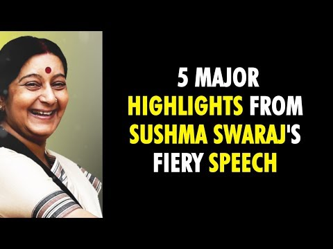 Watch: When #SushmaSwaraj handed out a masterclass on secularism in Parliament