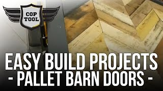 Easy Build Projects - Pallet Wood Barn Doors - Chevron Or Herringbone