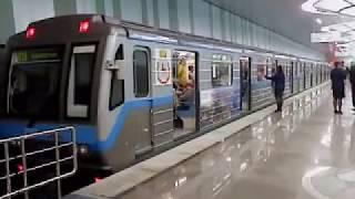 1 Первый   поезд на  метро  СТРЕЛКА Нижний Новгород