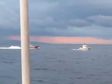 Νέο βίντεο από την απόπειρα εμβολισμού σκάφους του Λιμενικού από τουρκική ακταιωρό