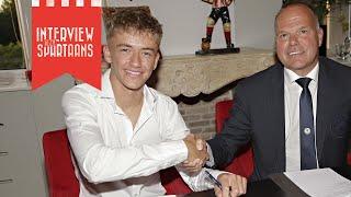 Sven Mijnans tekent eerste contract: 'Had het nog niet verwacht'