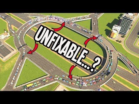 "Fixing BROKEN Traffic Using ""Lane Mathematics"" in Cities Skylines"