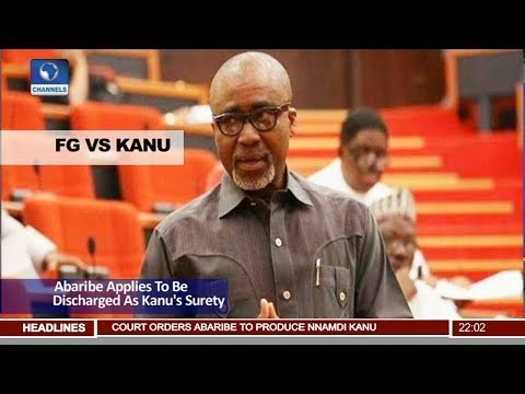 FG VS Kanu: Senator Abaribe Applies To Be Discharged As Kanu's Surety