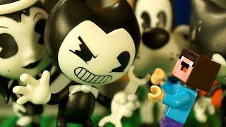 БЕНДИ vs БАЛДИ vs FORTNITE - Лего НУБик Майнкрафт ФНАФ Мультики - LEGO Minecraft FNAF Мультфильмы