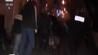 preview picture of video 'Vieux Tours : Affrontements entre jeunes et policiers'
