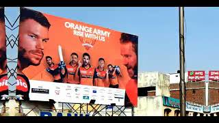 SRH campaign goes big across Hyderabad OOH with Mera Hoardings