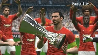 PES 2017   UEFA Europa League final   Lyon vs Manchester United   Gameplay PC