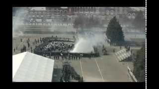Жестокий разгон протестующих батальоном спецназа