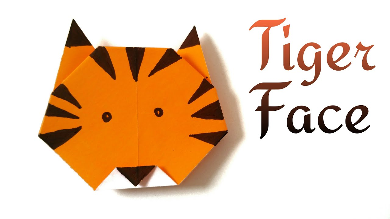 tiger | Paperfolds in | Origami, Arts and Crafts