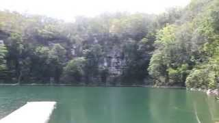 preview picture of video 'Cenote Azul Miguel Colorado, Champoton, Campeche'
