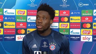 """""""We wanted to show we're defending the UCL for a reason."""" Alphonso Davies on emphatic Bayern win"""