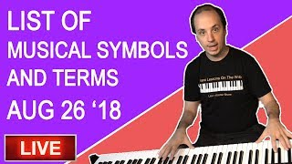 🔴 The List of Musical Symbols