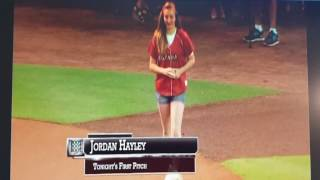 Jordan Hayley Home Town Hero Astros 1st Pitch