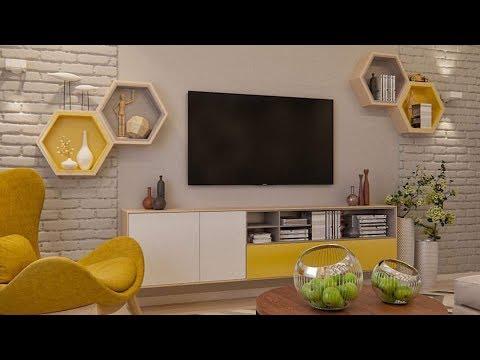 Modern TV  Wall Mount Stand Decoration Ideas / modern TV stand 2019